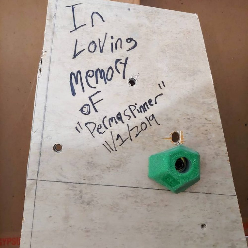 """A """"permaspinner"""" is the result of a bolt getting friction welded to a T-nut. The only solution is to replace the board it's attached to"""